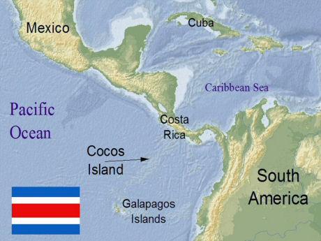 Costa Rica Islands Map MAP - Cocos islands map